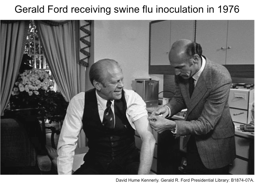 gerald-ford-receiving-swine-flu-shot